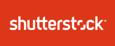 Shutterstock rectangular white logo