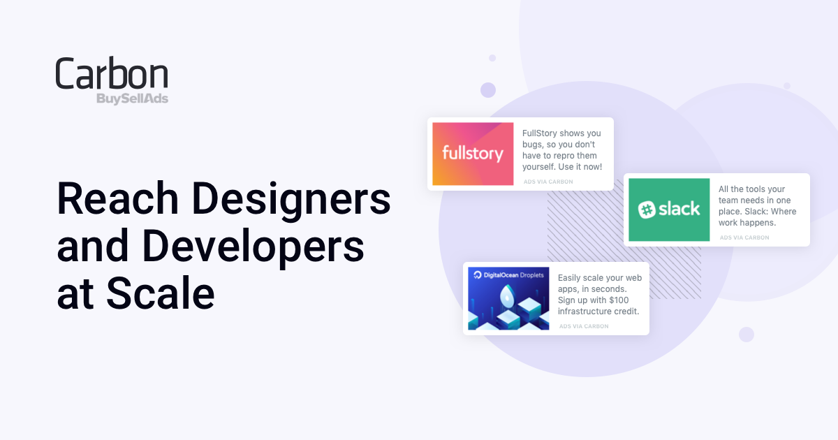 Reach Designers and Developers at Scale   Carbon Ads